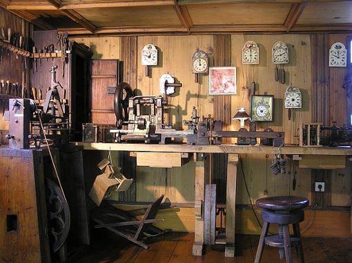 Die Uhrmacherwerkstatt im Heimatmuseum Schwenningen