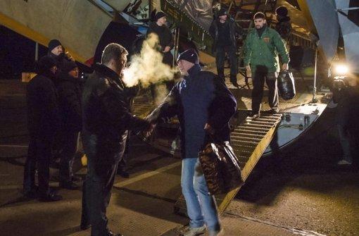 Poroschenko empfängt freigelassene Soldaten