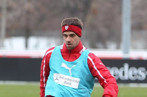 Martin Harnik sieht den VfB noch nicht im Abstiegskampf. Foto: Rudel