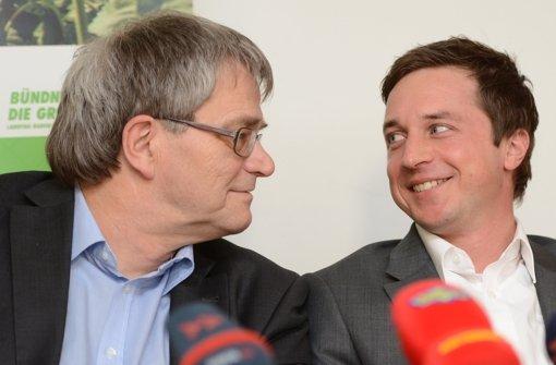 Ulrich Sckerl (links) und Sascha Binder machen Druck auf die CDU. Foto: dpa