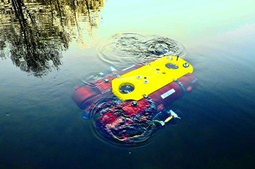 Der Roboter Dagon muss sich im See ohne fremde Hilfe orientieren. Foto: DFKI