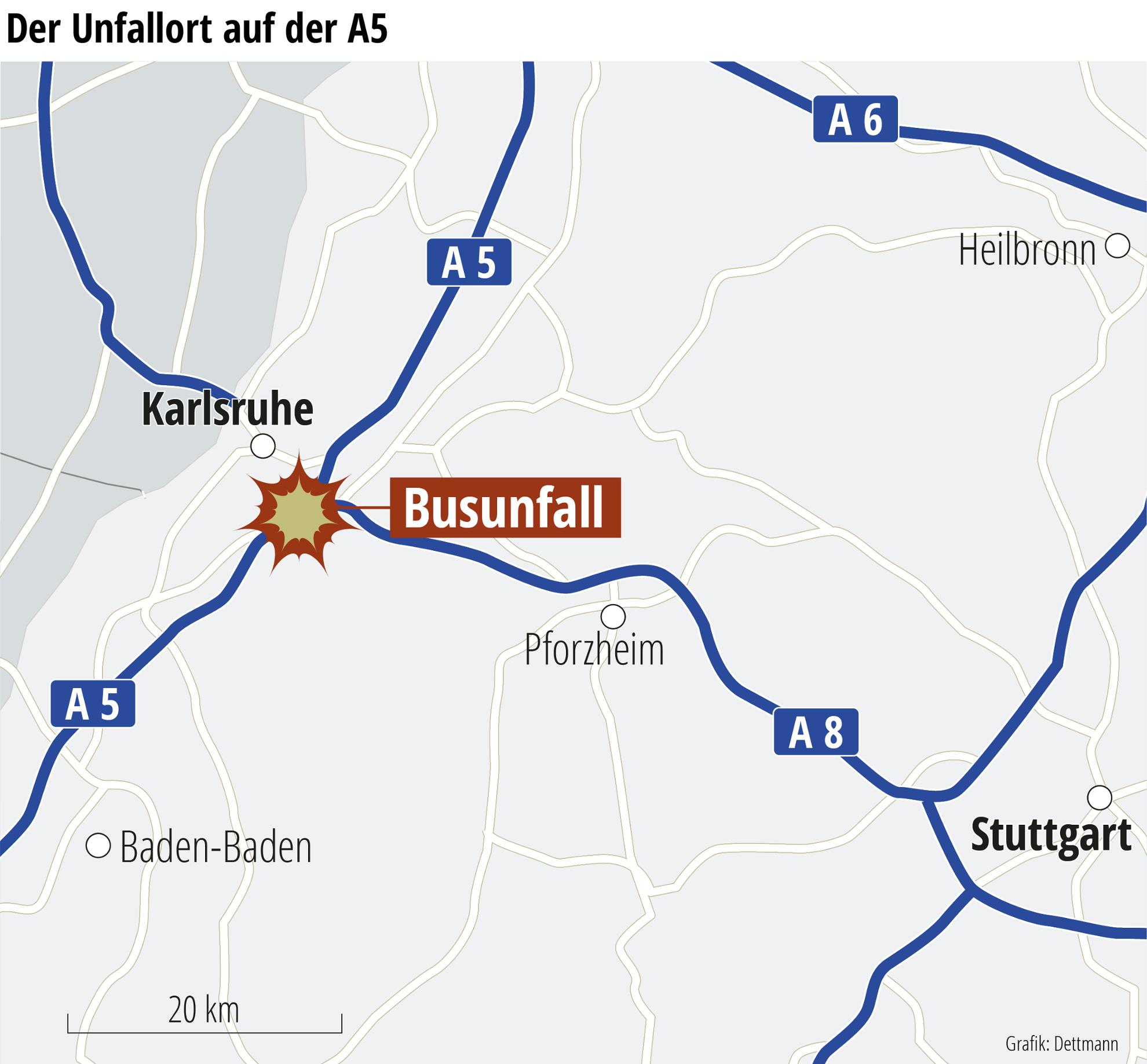 Busunglück Karlsruhe