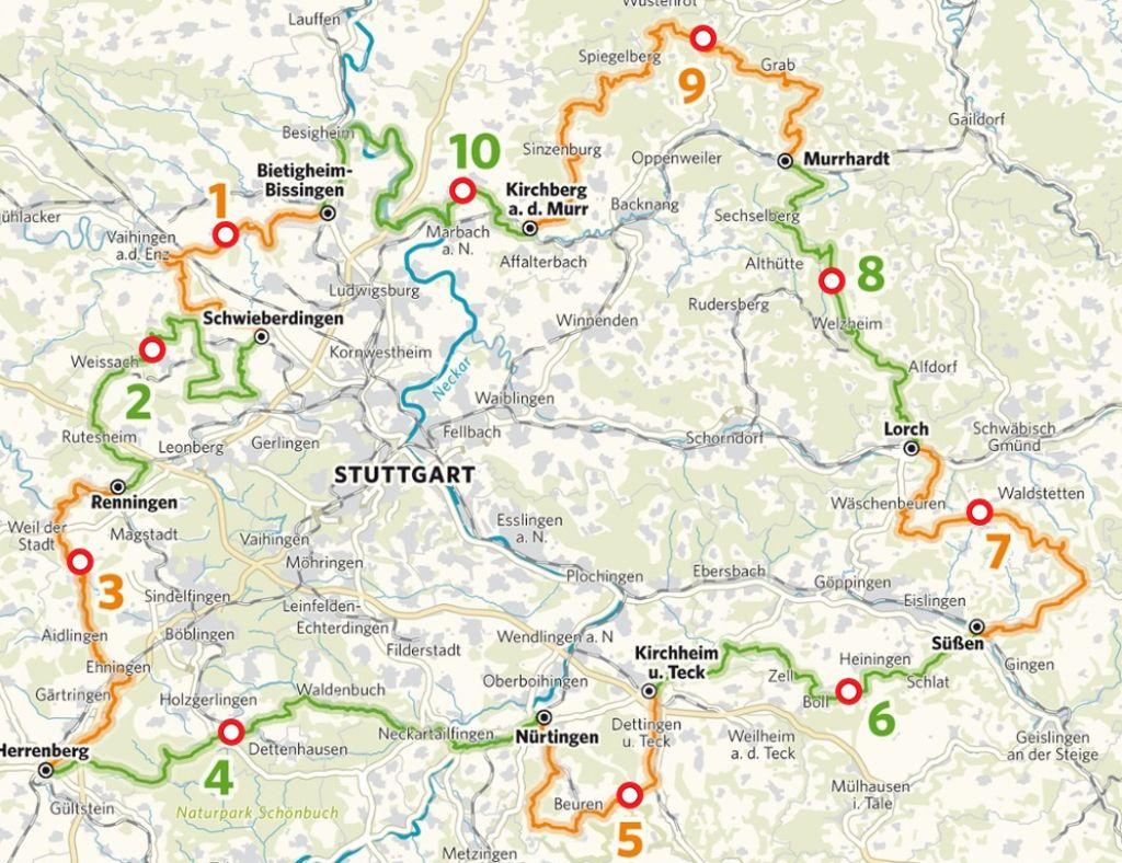 stuttgart karte Tour de Region: Interaktive Karte für Touren rund um Stuttgart