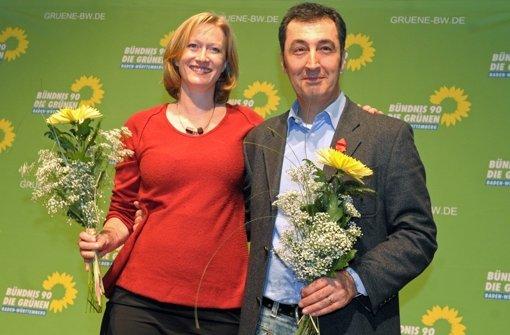 Geschafft: Kerstin Andreae und Cem Özdemir sind Spitzenkandidaten der Grünen. Foto: dpa