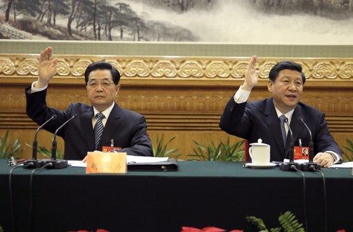 Hu Jintao (links) tritt ab, Xi Jinping wird der neue starke Mann Chinas. Foto: dapd