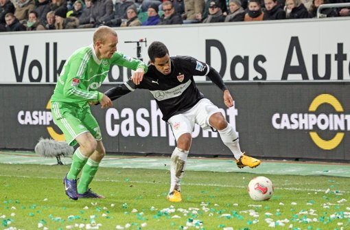 Daniel Didavi (rechts) ist in Wolfsburg eingewechselt worden. Foto: Herbert Rudel