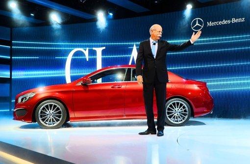 Der Daimler-Chef hat in Detroit die neue CLA-Klasse vorgestellt. Foto: dpa