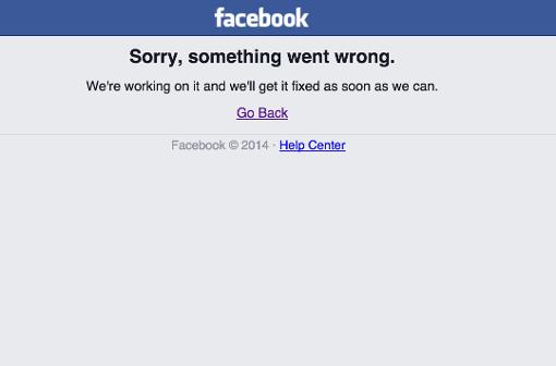 Soziale Netzwerke nicht erreichbar