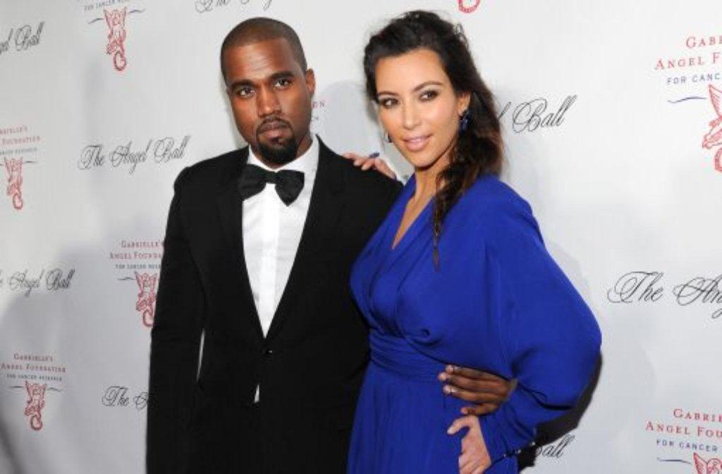 Das Tv Sternchen Kim Kardashian 32 Und Der Rapper Kanye West 35