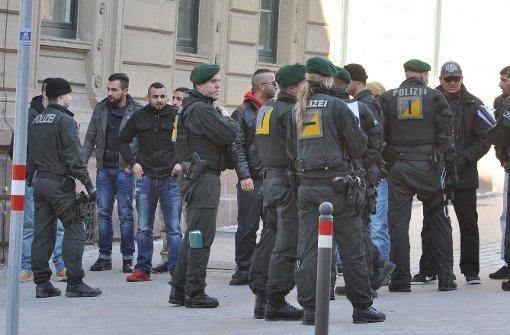 Polizei sichert Urteilsverkündung