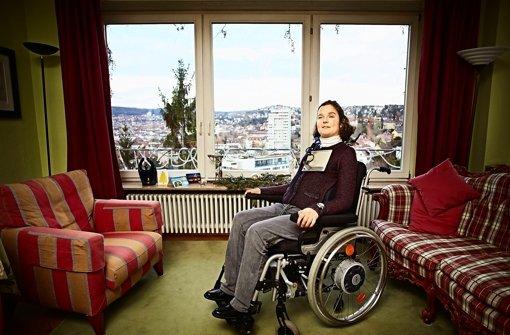 Maria-Cristina Hallwachs ist bestürzt, dass sie nicht in ein Restaurant gelassen wurde. Das ist ihr zuvor noch nie passiert. Foto: Heinz Heiss