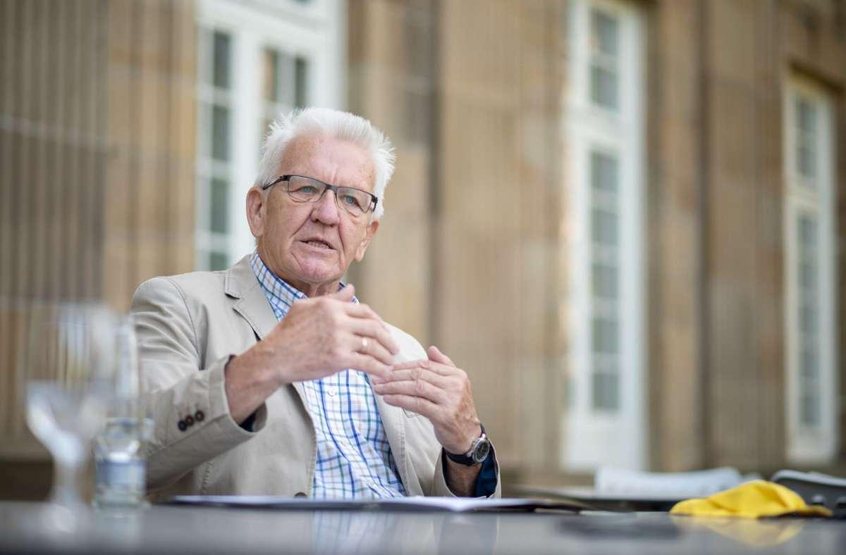 Winfried Kretschmann Bin Nicht Ministerprasident Der Grunen Baden Wurttemberg Stuttgarter Zeitung