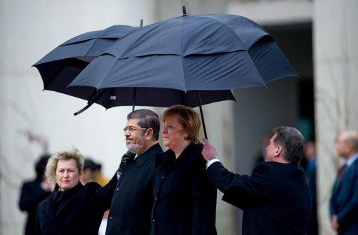 Der ägyptische Staatspräsident Mohhammed Mursi besucht Bundeskanzlerin Merkel in Berlin. Foto: dpa