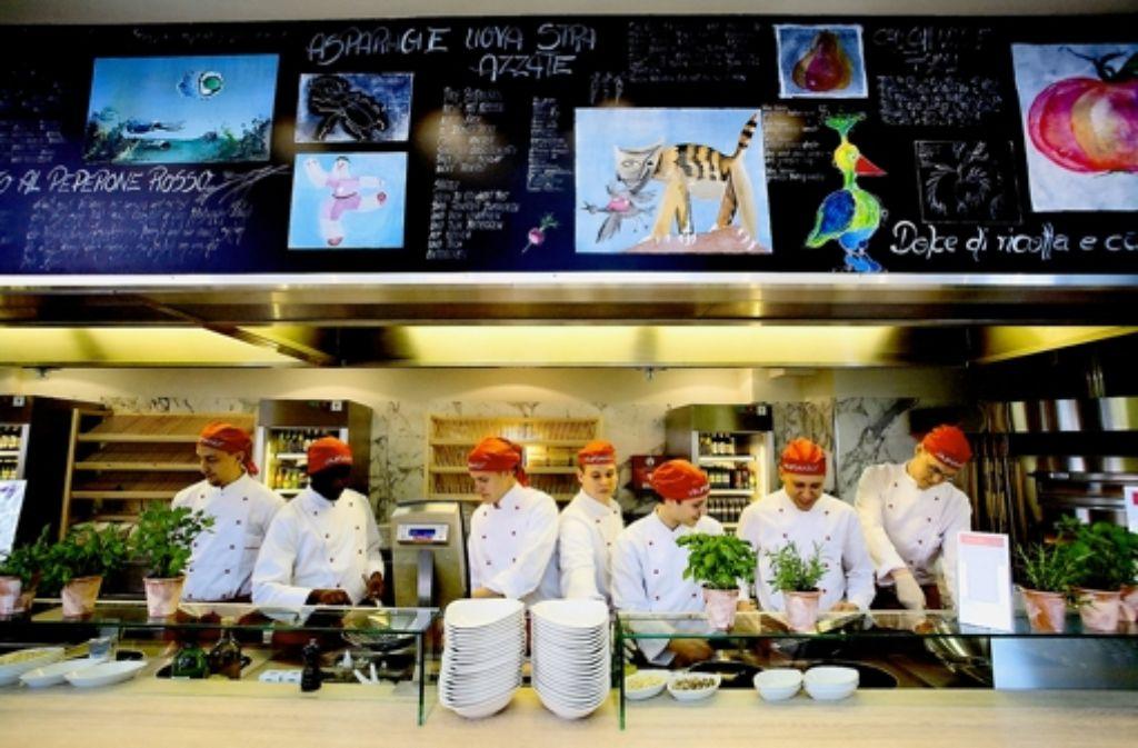 platzhirsch stuttgart vapiano ist der auf dem pizza markt foto speisekarte