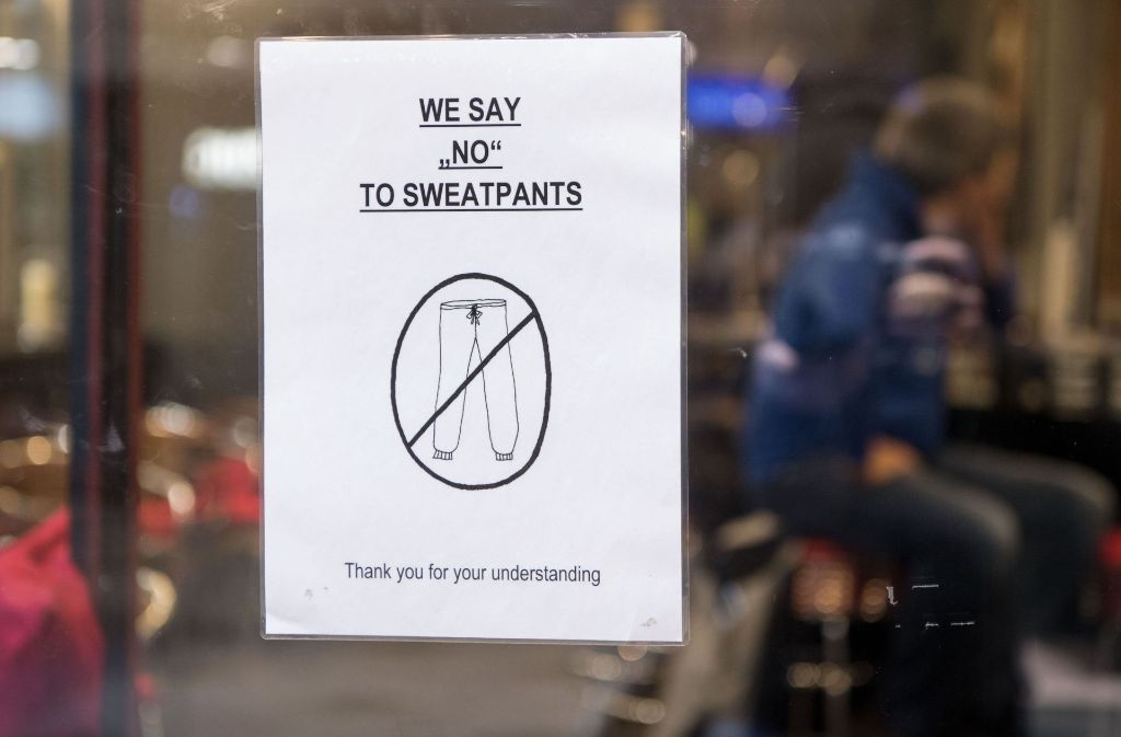 Jogginghosen Verbot