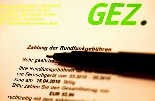 Gehört bald ins Museum: die GEZ-Rechnung Foto: dpa