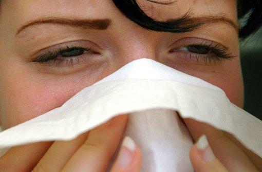 Bei Schnupfen entzünden sich oft auch die Nasennebenhöhlen. Foto: dpa