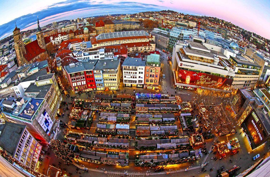 Stuttgart Weihnachtsmarkt.Weihnachtsmarkt In Stuttgart Der Budenzauber Aus Der