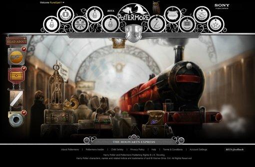 Mit dem Hogwarts-Express geht es zur Zauberschule. Foto: Pottermore.com