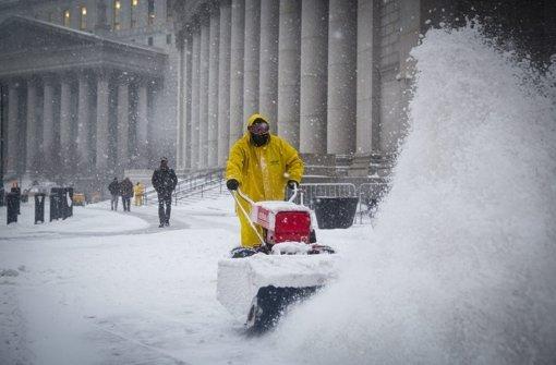Gewaltiger Blizzard überrollt New York