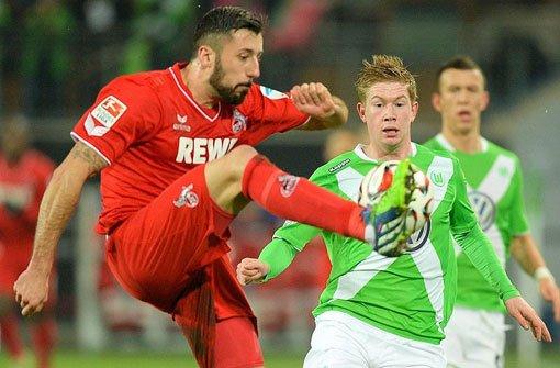 Wolfsburg schlägt Köln mit 2:1