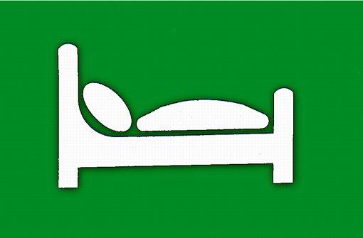 Das Gräbele sollte ein Bett sein
