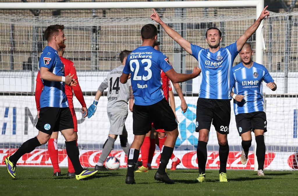 Stuttgarter Kickers Gegen 1 Fc Rielasingen Arlen Die