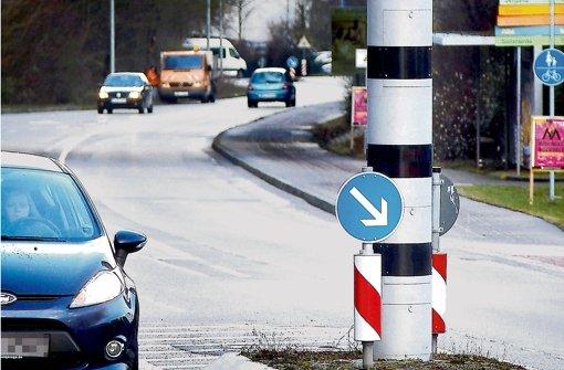 Auch in der Tübinger Straße sind deutlich weniger Verstöße registriert worden. Foto: factum