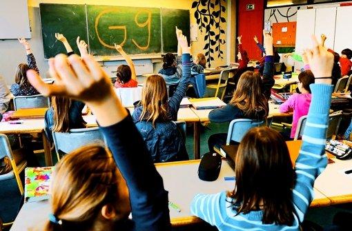 G-9-Schüler bekommen  Pläne, die mit anderen Schularten abgestimmt wurden. Foto: dpa