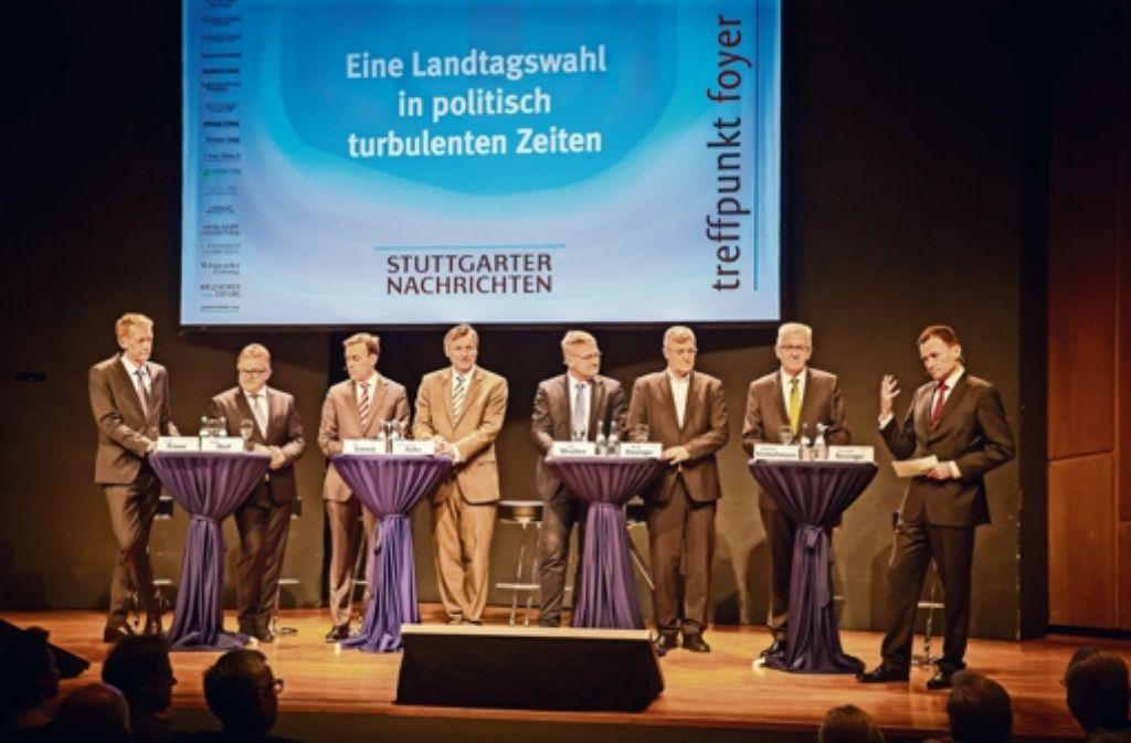 Podiumsdiskussion zur Landtagswahl: Keiner will mit der AfD etwas zu ...