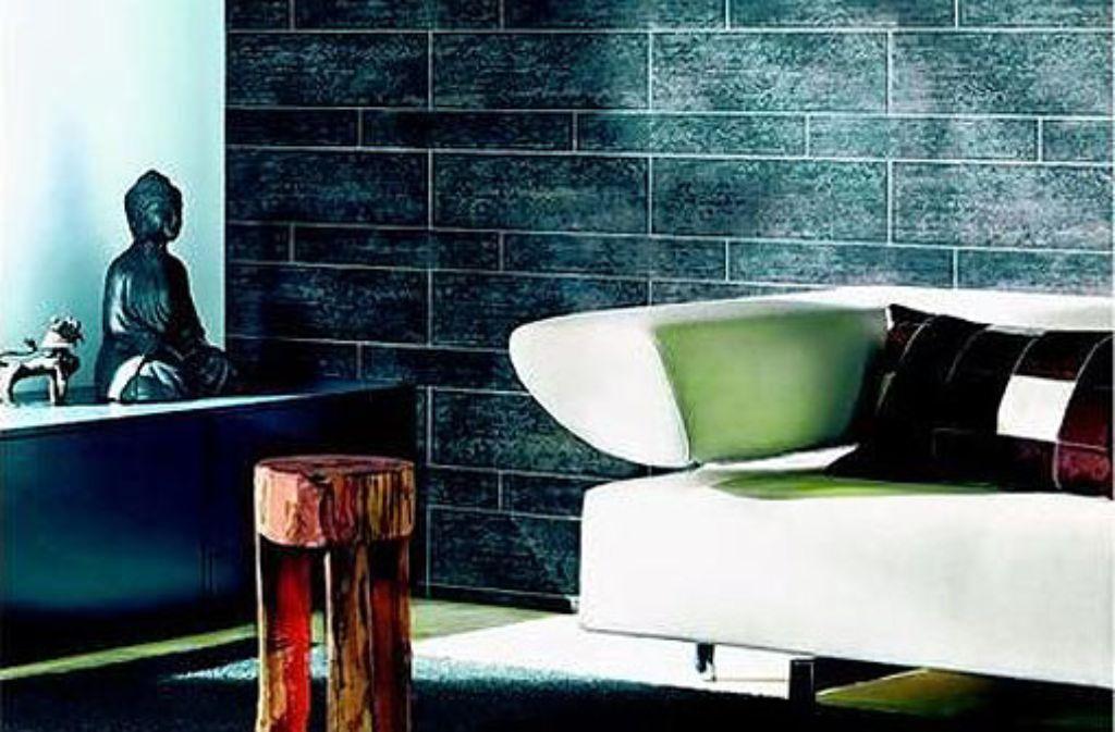 tapeten mit struktur die toskana im wohnzimmer wohnen bauen stuttgarter zeitung. Black Bedroom Furniture Sets. Home Design Ideas