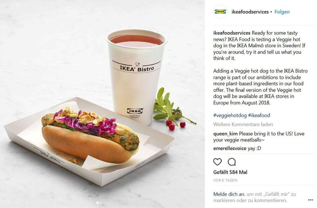 ikea bietet fleischfreie alternative m belhaus f hrt vegetarischen hot dog ein panorama. Black Bedroom Furniture Sets. Home Design Ideas