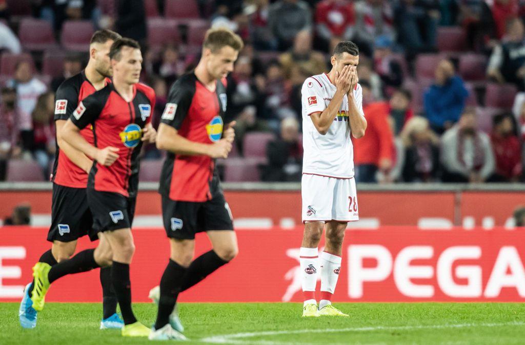 Fussball Bundesliga 1 Fc Koln Geht Zu Hause Gegen Hertha Unter Fussball Stuttgarter Zeitung