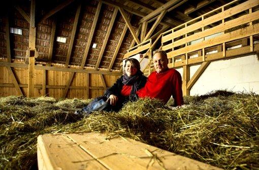 Anja und Michael Nowak wollen im April das Heuhotel wiedereröffnen. Foto: Frandk Eppler