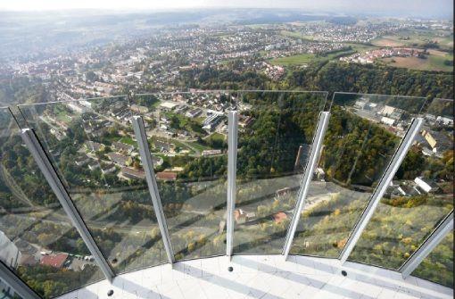 Deutschlands höchste Aussichtsplattform auf dem Rottweiler Testturm