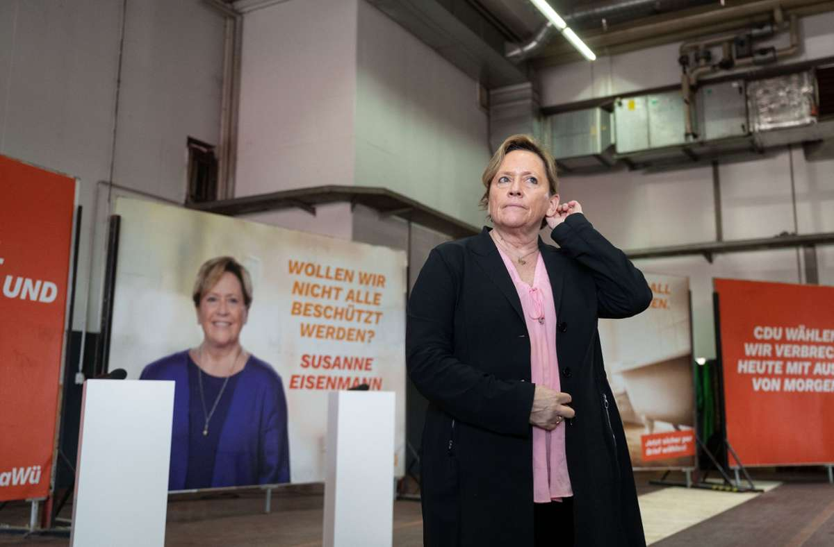 Wahlplakat Von Susanne Eisenmann Fdp Mann Startet Missgluckten Konter Baden Wurttemberg Stuttgarter Zeitung
