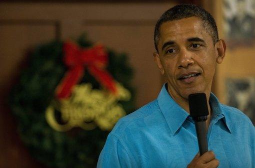US-Präsident Barack Obama hat seinen Weihnachtsurlaub abgebrochen, um den Haushaltsstreit im Kongress beizulegen. Foto: UPI / ISP / POOL