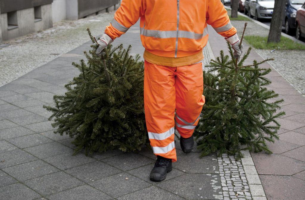 Weihnachtsbaum entsorgen esslingen 2018