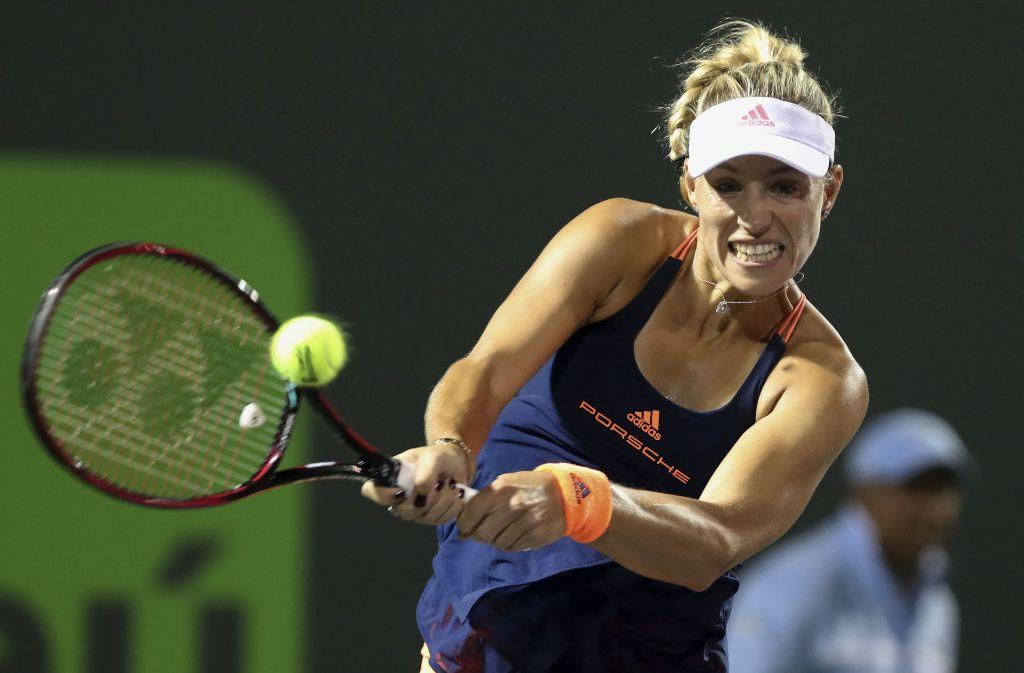 Tennisturnier In Monterrey Angelique Kerber Locker Im Viertelfinale