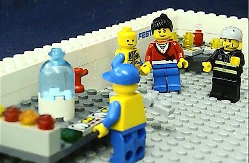 Legomännchen lässt Jury Bauklötze staunen
