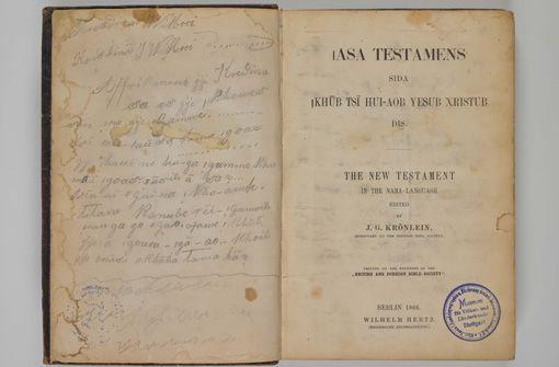 Rückgabe kolonialer Kulturgüter: Bibel und Peitsche von Hendrik Witbooi von 11.12. bis Februar im Lindenmuseum