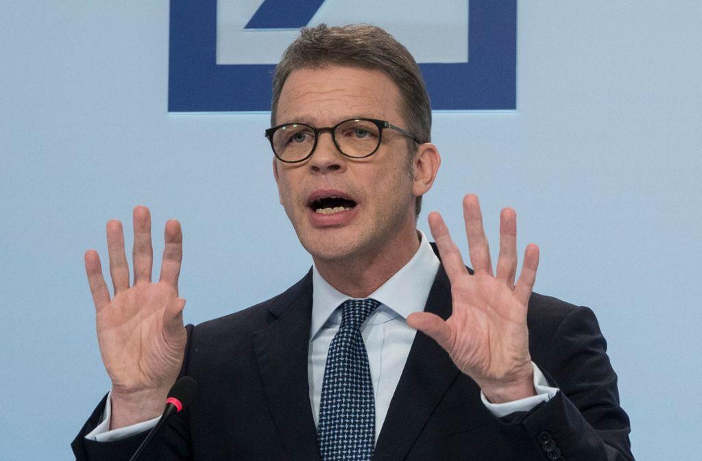 Deutsche Bank Ein Bankchef Als Getriebener Wirtschaft Stuttgarter Zeitung
