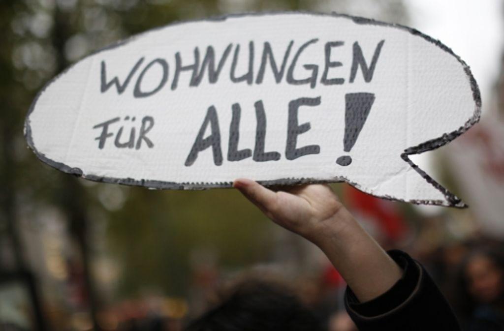 Wohnungsmarkt Stuttgart Demonstration Gegen Explosionsartig