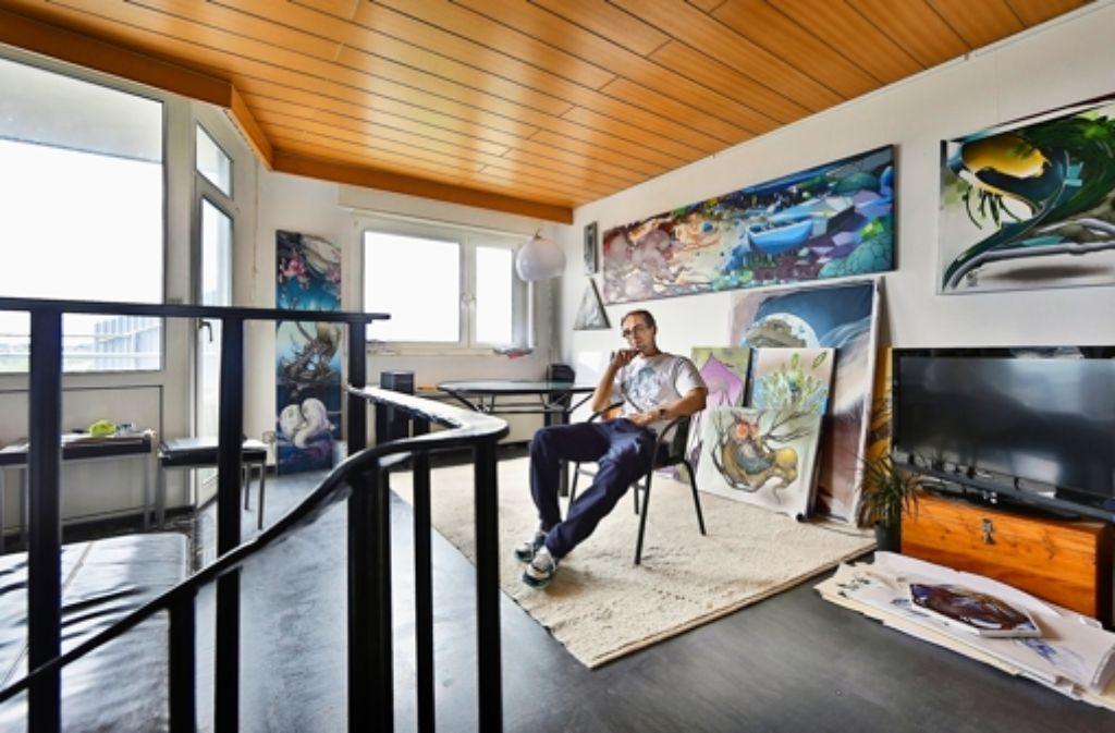 stuttgarter wohnzimmer: wie ein dorf in der vertikalen - stuttgart, Wohnzimmer
