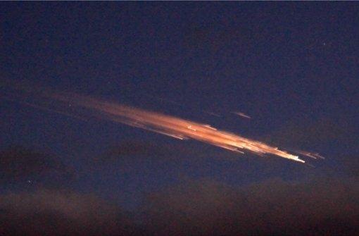 An Heiligabend 2011 wurden diese Leuchtstreifen am Himmel über Bayern beobachtet. Foto: dapd