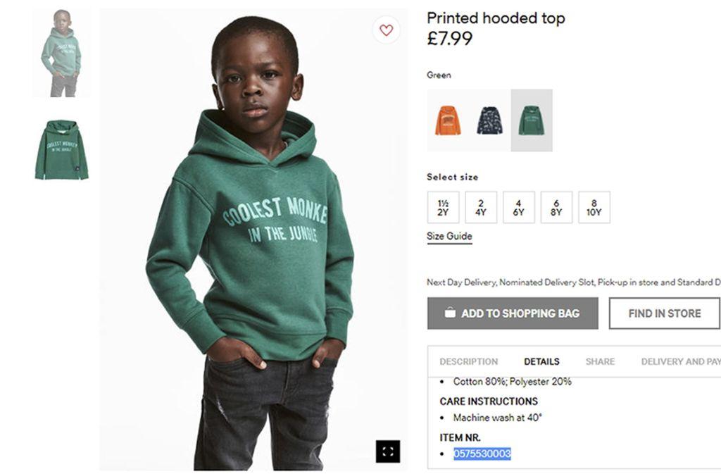 Rassismus Vorwurf Gegen Hm Modemarke Nimmt Umstrittenes Sweatshirt